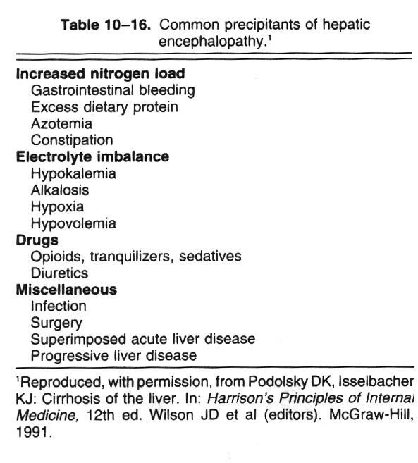 hepatic coma diet